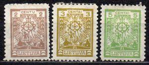 Litauen, Mi-Nr. 209, 210 + 211 *