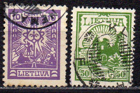 Litauen, Mi-Nr. 217 + 241 C gest.