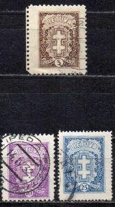 Litauen, Mi-Nr. 269 C,  271 C + 273 A gest.