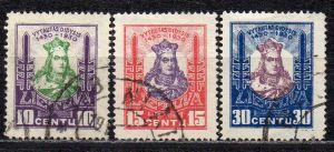 Litauen, Mi-Nr. 296, 297 + 298 gest.