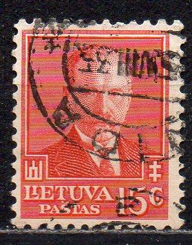 Litauen, Mi-Nr. 391 gest., 60. Geburtstag von Staatspräsident Antanas Smetona