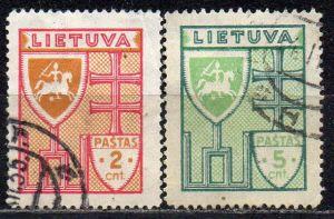 Litauen, Mi-Nr. 394 + 395 gest.,