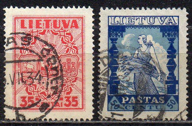 Litauen, Mi-Nr. 398 + 399 gest.,