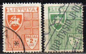 Litauen, Mi-Nr. 408 + 409 gest.,