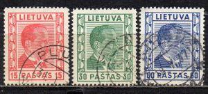 Litauen, Mi-Nr. 410, 411 + 412 gest.,