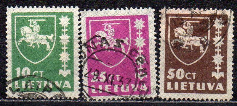 Litauen, Mi-Nr. 413, 414 + 416 gest.,