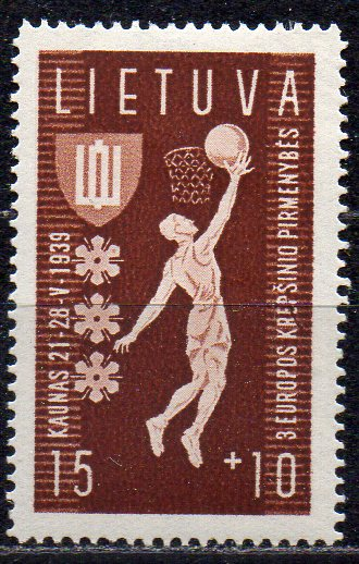 Litauen, Mi-Nr. 429 *, Basketball Europameisterschaft