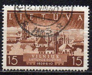 Litauen, Mi-Nr. 443 gest., Rückgliederung des Wilnagebietes