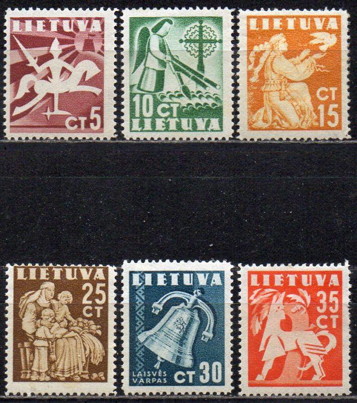 Litauen, Mi-Nr. 437 - 442 *, kompl., Frieden