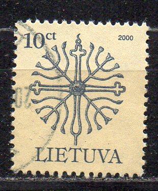 Litauen, Mi-Nr. 717 I gest., geschmiedete Denkmalspitzen