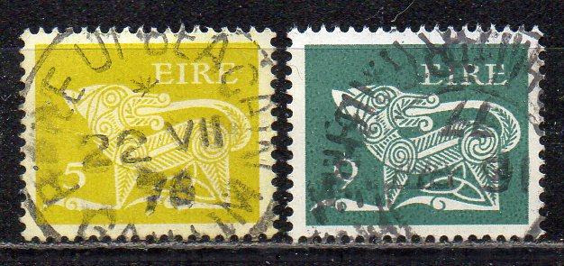 Irland, Mi-Nr. 298 X A + 347 gest., Frühe Irische Kunst