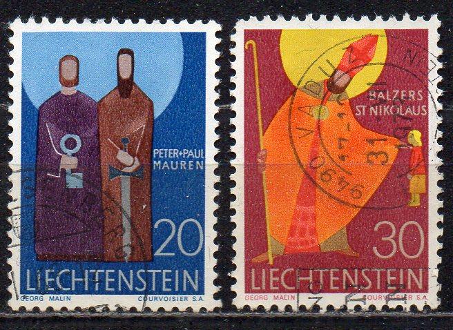 Liechtenstein, Mi-Nr. 487 + 488 gest.,