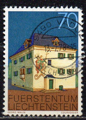 Liechtenstein, Mi-Nr. 699 gest., Pfarrhof in Mauren