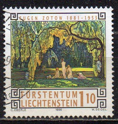 Liechtenstein, Mi-Nr. 1139 gest., Gemälde von Eugen Zotow