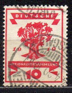 Deutsches Reich, Mi-Nr. 107 gest., Eröffnung der Nationalversammlung Weimar