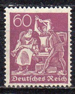 Deutsches Reich, Mi-Nr. 165 **, WZ Rauten