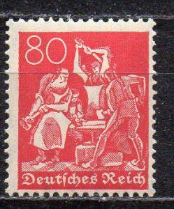 Deutsches Reich, Mi-Nr. 166 **, WZ Rauten