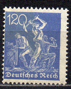 Deutsches Reich, Mi-Nr. 168 **, WZ Rauten