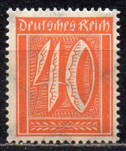 Deutsches Reich, Mi-Nr. 182 **, WZ Waffeln