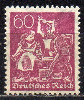 Deutsches Reich, Mi-Nr. 184 **, WZ Waffeln