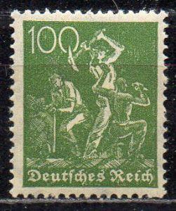 Deutsches Reich, Mi-Nr. 187 **, WZ Waffeln