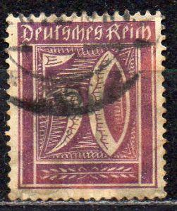 Deutsches Reich, Mi-Nr. 183 gest., WZ Waffeln