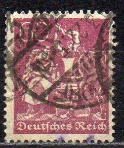 Deutsches Reich, Mi-Nr. 184 gest., WZ Waffeln
