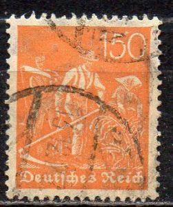 Deutsches Reich, Mi-Nr. 189 gest., WZ Waffeln