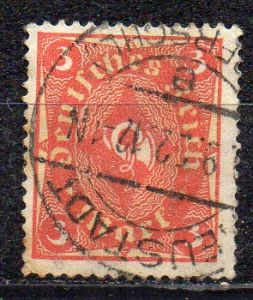 Deutsches Reich, Mi-Nr. 192 gest., WZ Waffeln