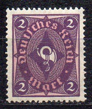 Deutsches Reich, Mi-Nr. 191 *, WZ Waffeln