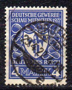 Deutsches Reich, Mi-Nr. 202 gest., Deutsche Gewerbeschau München