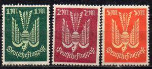 Deutsches Reich, Mi-Nr. 215, 216 + 218 *, Flugpostmarken Holztaube