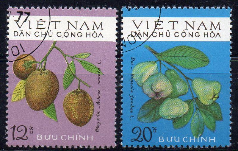 Vietnam - Nord, Mi-Nr. 803 + 805 gest., Früchte