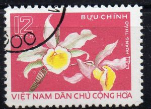 Vietnam - Nord, Mi-Nr. 842 gest., Orchidee