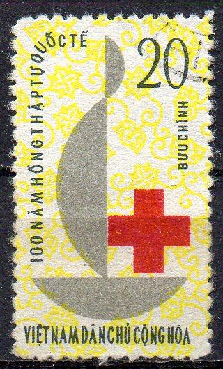 Vietnam - Nord, Mi-Nr. 257 gest., 100 Jahre Internationales Rotes Kreuz