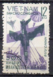 Vietnam - Nord, Mi-Nr. 393 gest., Abschuß des 500. US-Flugzeugs über Nordvietnam