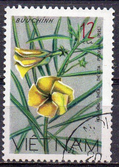 Vietnam, Mi-Nr. 919 gest., wildwachsende Blume