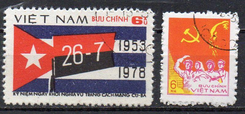 Vietnam, Mi-Nr. 984 + 986 gest.,