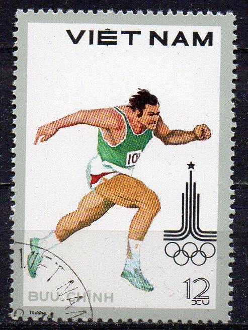 Vietnam, Mi-Nr. 1093 gest., Olympische Sommerspiele Moskau 1980 - Läufer