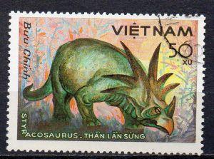 Vietnam, Mi-Nr. 1480 gest., Tiere - Styraco-Saurier