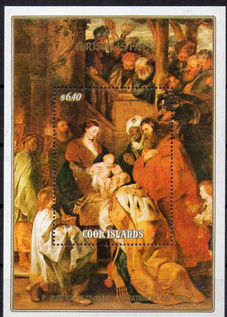 Cook - Inseln, Block Mi-Nr. 193 **, Weihnachten 1989 - Gemälde von P. P. Rubens