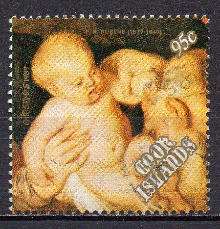 Cook - Inseln, Mi-Nr. 1288 gest., Weihnachten 1989