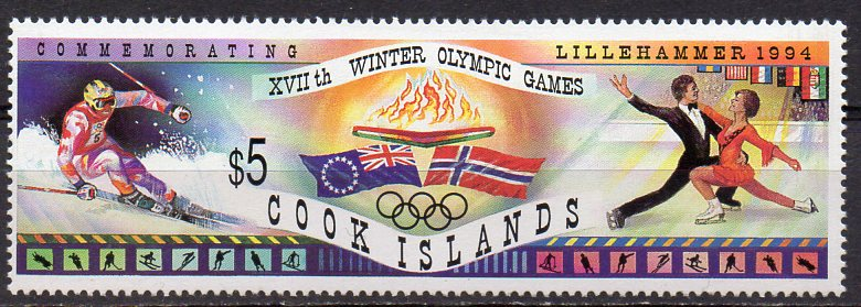 Cook - Inseln, Mi-Nr. 1402 **, Olympische Winterspiele Lillehammer 1994