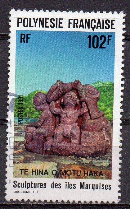 Französisch-Polynesien, Mi-Nr. 587 gest., Skulptur