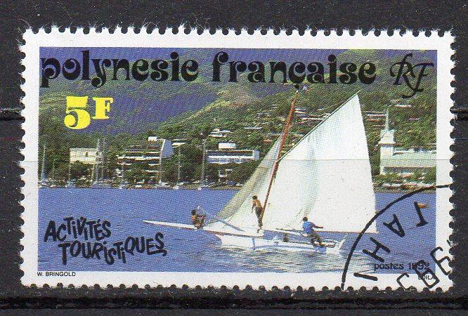 Französisch-Polynesien, Mi-Nr. 603 gest., Segelboot