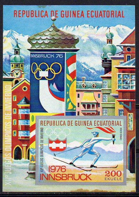 Äquatorial-Guinea, Block Mi-Nr. 160 gest., Olympische Winterspiele 1976 Innsbruck