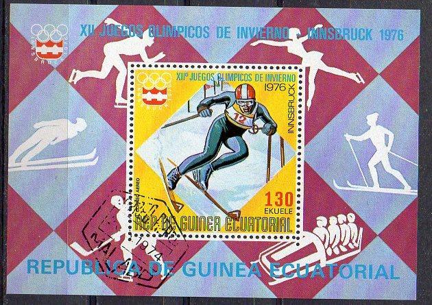 Äquatorial-Guinea, Block Mi-Nr. 205 gest., Olympische Winterspiele 1976 Innsbruck