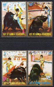 Äquatorial-Guinea, Mi-Nr. 580 u. a. gest., Stierkampf