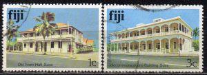 Fidschi - Inseln, Mi-Nr. 399 I X + 401 I X gest., Gebäude