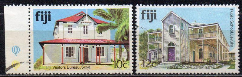 Fidschi - Inseln, Mi-Nr. 404 I X + 405 I X gest., Gebäude